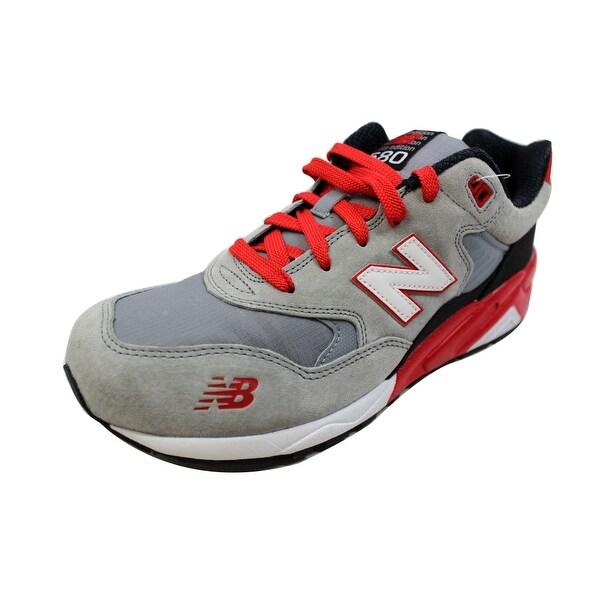 New Balance Men's Lifestyle Mod De Vie Grey/White-Red MRT580SR Size 10.5