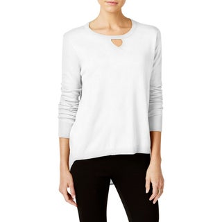 One A Womens Pullover Sweater Chiffon-Back Keyhole (2 options available)
