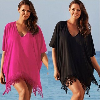 Knitted Crochet Cover up / Beach Dress in Plus Size