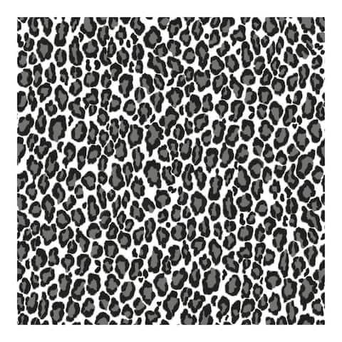 Cicely Black Leopard Skin Wallpaper - 20.9 x 396 x 0.025