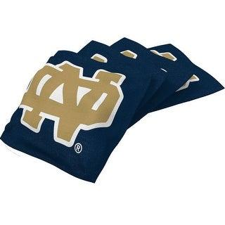Wild Sports NCAA College Notre Dame Fighting Irish Blue Authentic Cornhole Bean Bag Set (4 Pack) Wild Sports NCAA College Notre