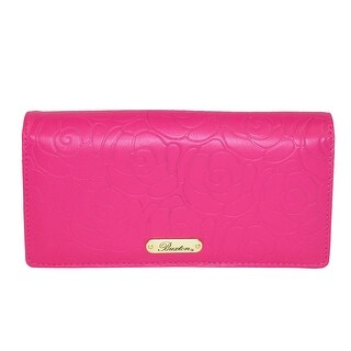 Buxton Women's Rose Garden Leather Embossed Clutch Wallet - One size