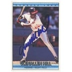 Glenallen Hill Cleveland Indians 1992 Donruss Autographed Card  This item comes with a certificate