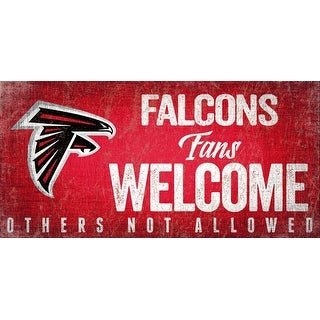 Link to Atlanta Falcons Wood Sign Fans Welcome 12x6 Similar Items in Fan Shop