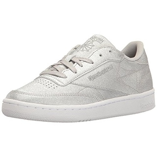 Link to Reebok Womens Club C 85 Fashion Sneakers Glitter Low Top - Diamond Silver/Grey/White Similar Items in Women's Shoes