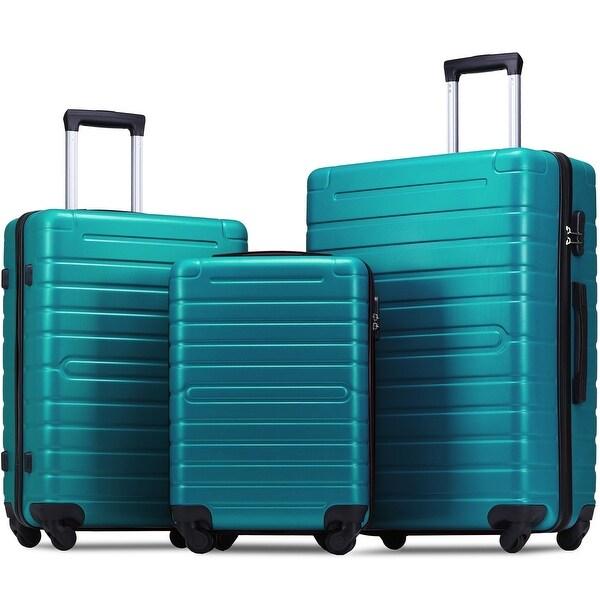Teal Zebra 3 Piece Luggage Set Color