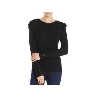 Marled Reunited Clothing Womens Sweater Ruffled Long Sleeves