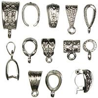 Jewelry Basics Metal Findings 13/Pkg-Silver Mixed Bail Pack - Silver