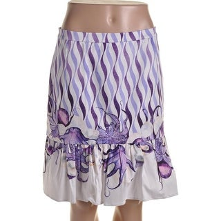 Isolda Womens Twill Peplum A-Line Skirt