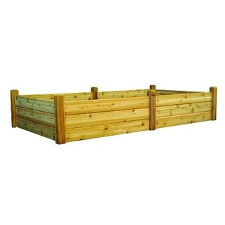 Gronomics RGBT 48-95 Unfinished 48 x 95 x 19 in. Raised Garden Bed