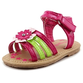 Rugged Bear Flower Sandal Toddler Open Toe Synthetic Pink Sandals