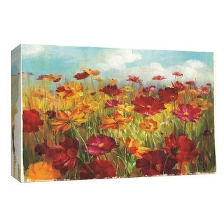"PTM Images 9-153883  PTM Canvas Collection 8"" x 10"" - ""Cosmos in the Field"" Giclee Flowers Art Print on Canvas"