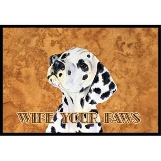 Carolines Treasures SS4892JMAT 24 X 36 In. Dalmatian Wipe Your Paws Indoor Or Outdoor Mat