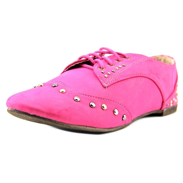 Yoki Pilar-11 Women Round Toe Synthetic Pink Oxford