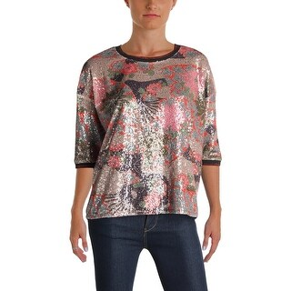 Scotch & Soda Womens Blouse Sequined Printed - 2