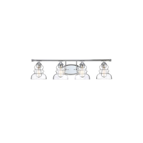 "Millennium Lighting 7334 Brighton 4-Light 33"" Wide Bathroom Vanity Light with Glass Shades - N/A"