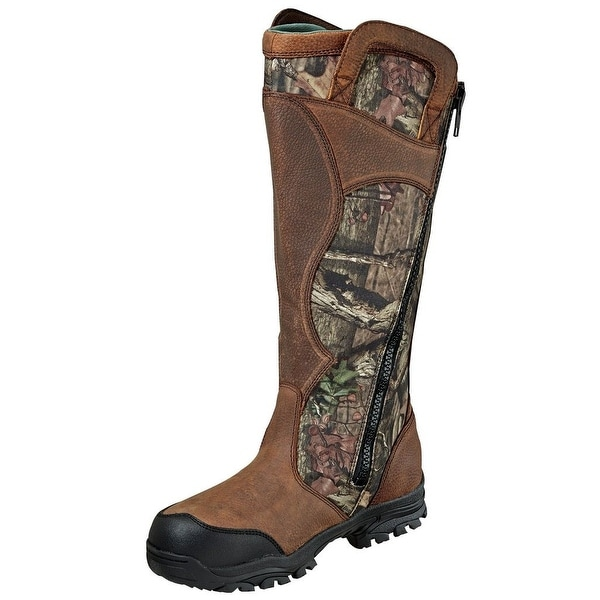 Wood N Stream Outdoor Boots Mens Snake Side Zipper WP Camo Brown 1400