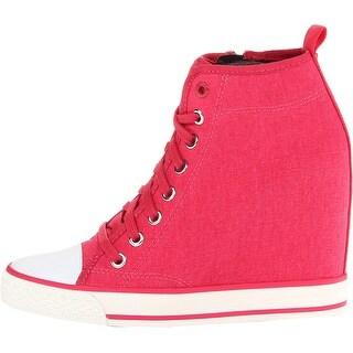 DKNY Women's Grommet Wedge Sneakers