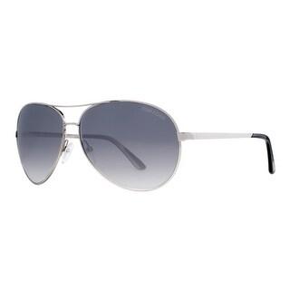 TOM FORD Aviator Charles TF35 Unisex 753 Palladium Smoke Gradient Sunglasses - 62mm-12mm-130mm