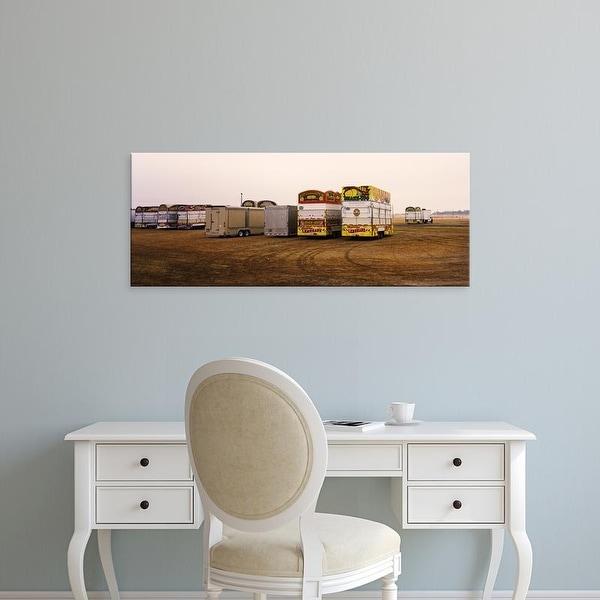 Easy Art Prints Panoramic Images's 'Trucks at fairground, Rio Grande Valley, Texas, USA' Premium Canvas Art