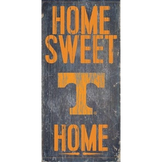 Tennessee Volunteers Wood Sign Home Sweet Home 6 X12