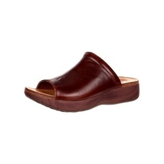 4EurSole Casual Sandals Womens My Time Low Wedge Brown RKH167