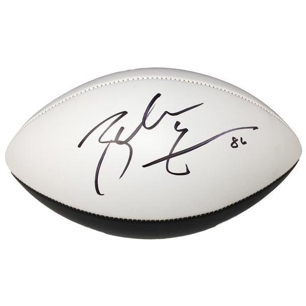 170c2eb5585 Zach Ertz Signed Philadelphia Eagles Super Bowl 52 Logo Football JSA ITP