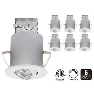 3-Inch ETL-listed Air Tight IC Housing and White Swivel Trim + LED Dimmable GU10 Light Bulb 3000K