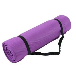 Gymnasium Fitness Exercise PVC Folding Yoga Mat Pad Support Purple 177cm x 60cm