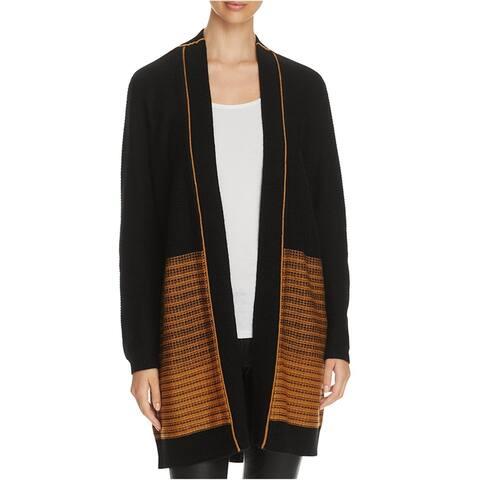 Finity Womens Knit Cardigan Sweater, Black, Large