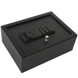 Ivation Drawer Safe, Digital Keypad - 4.37 x 11.8 x 8.6 Home Security Box, Backup Keys & Mounting Kit