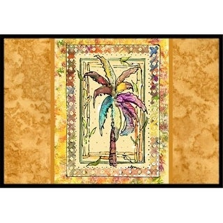Carolines Treasures 8614MAT 18 x 27 in. Palm Tree Indoor Or Outdoor Mat