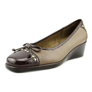 Aerosoles Temahawk Women  Open Toe Canvas Brown Wedge Heel