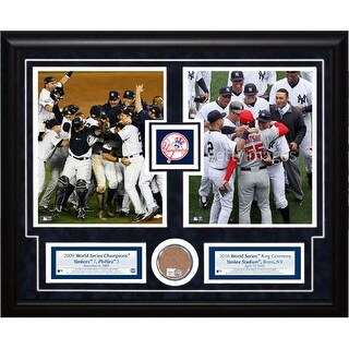2010 Yankees Ring Ceremony: 2 Photo Dirt Collage