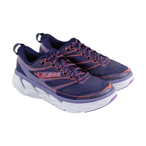 Hoka One One Conquest 3 Womens Blue Mesh & synthetic Athletic Running Shoes