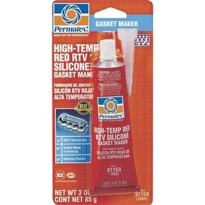 Permatex 81160 High Temp RTV Silicone Gasket Maker, Red, 3 Oz