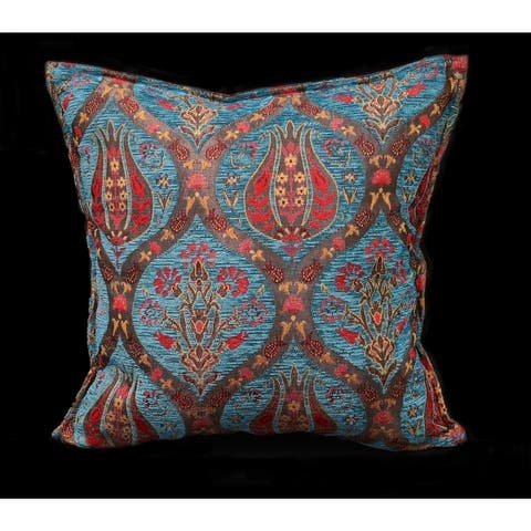Arum Lilac Chenille Turkish Decorative Pillow