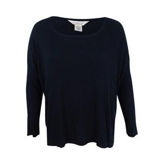 Denim & Supply Ralph Lauren Women's Lauren Waffle-Knit T-Shirt (XL, Black) - Black - xL