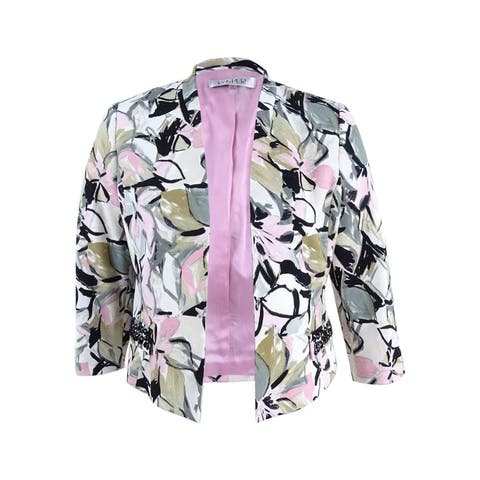 Kasper Women's Beaded Blazer (6, Tutu Pink Multi)
