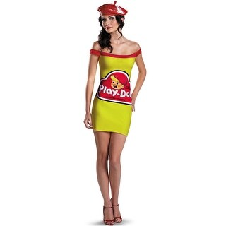 Disguise Play Doh Female Classic Adult Costume - Yellow