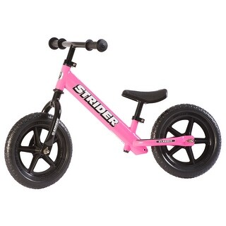 Strider - 12 Classic Balance Bike, Ages 18 Months to 3 Years - Pink