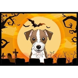 Carolines Treasures BB1760JMAT Halloween Jack Russell Terrier Indoor & Outdoor Mat 24 x 36 in.