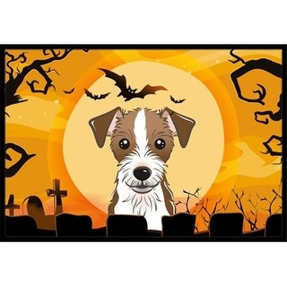 Carolines Treasures BB1760MAT Halloween Jack Russell Terrier Indoor & Outdoor Mat 18 x 27 in.