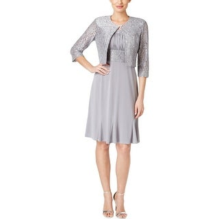 Jessica Howard Womens Dress With Jacket Lace Sequined