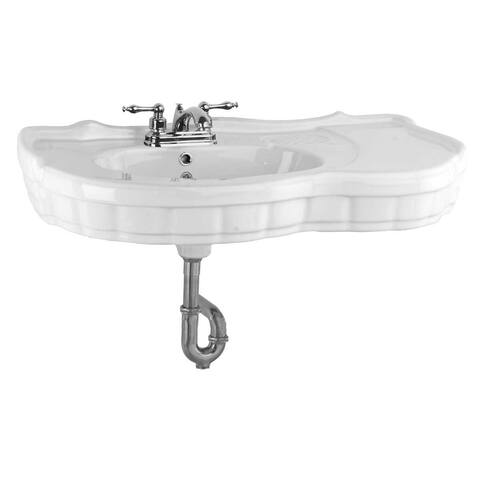 White Vitreous China Bathroom Console Sink Southern Belle - Sink Part