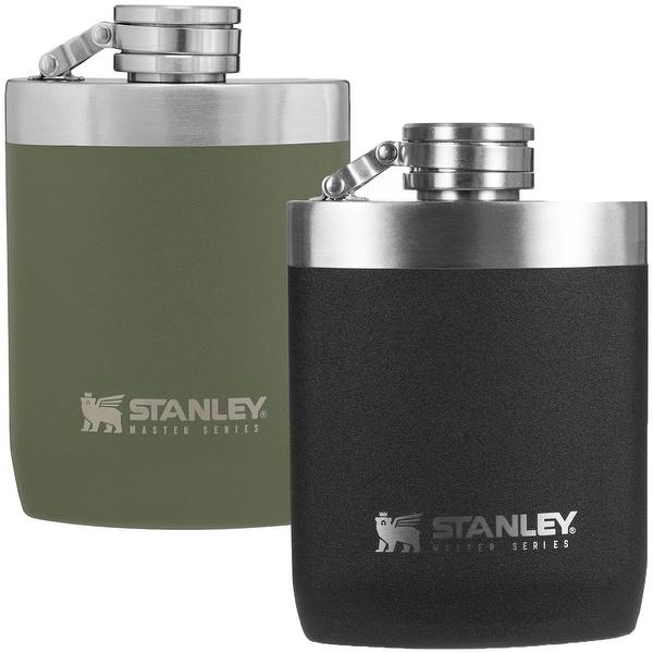 Orange Stanley Master Series Unbreakable Hip Flask 8 oz