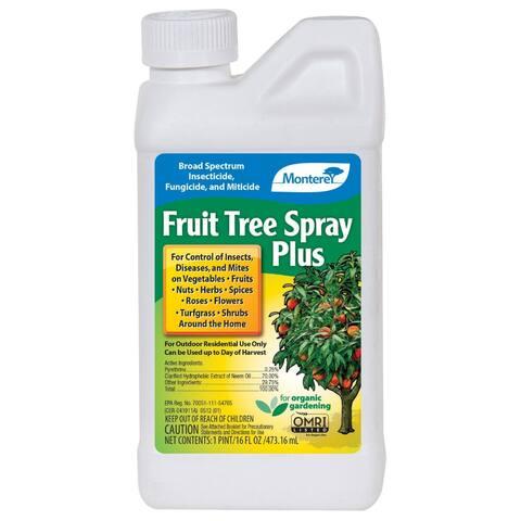 Monterey LG6184 Organic Fruit Tree Spray Plus Concentrate, 1 Pt