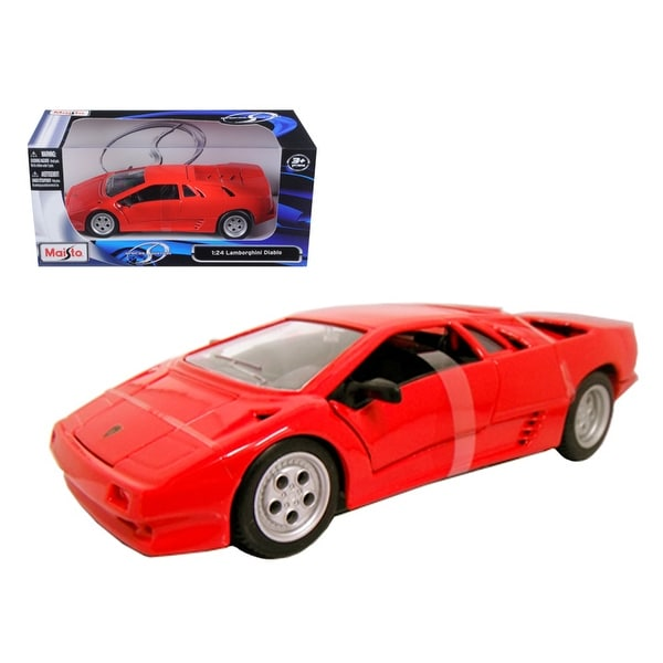 Shop Lamborghini Diablo Red 1 24 Diecast Model Car By Maisto Ships