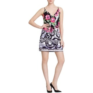 Clover Canyon Womens Casual Dress Floral Print Pleated - s