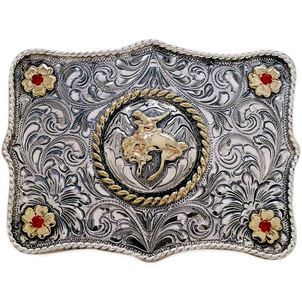 "Vogt Western Mens Trophy Buckle Ranchero Sterling Silver - 3"" x 2 1/4"""